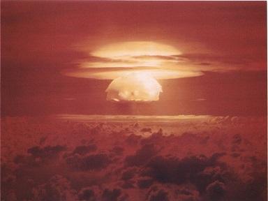 キャッスル作戦・ブラボー実験のキノコ雲