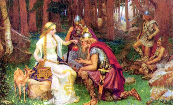 J・ペンローズ『イズンと黄金の林檎』1890年