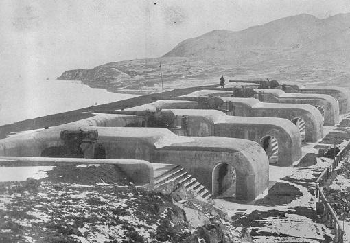 旅順海岸の砲台