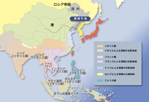 義和団の乱(1900-1901年)の鎮圧後の東アジアの情勢