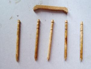 爪楊枝をカット