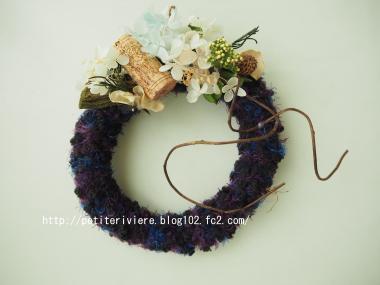 毛糸のリース