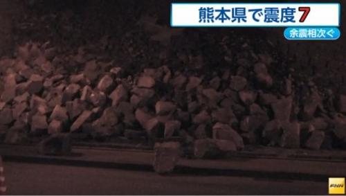 ku.熊本城 20160414 地震2