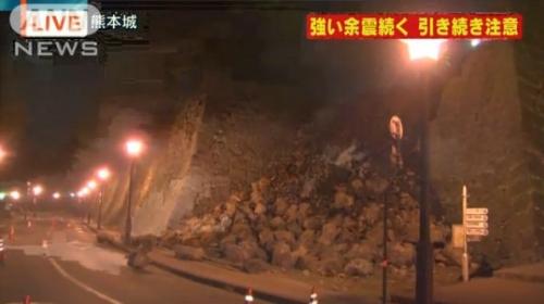 ku.熊本城 20160414 地震3