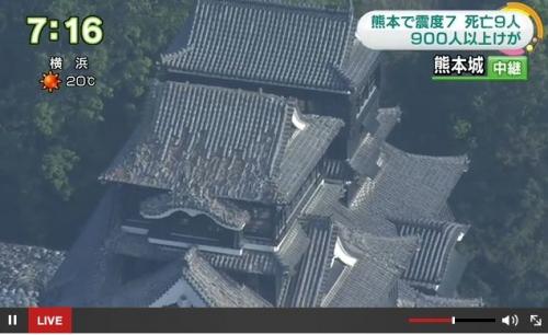 ku.熊本城 20160414 地震4