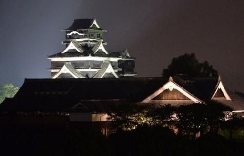 ku.熊本城 6月1日ライトアップ再開