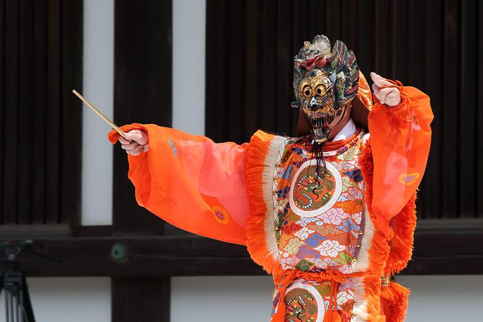 唐招提寺 うちわまき・舞楽3