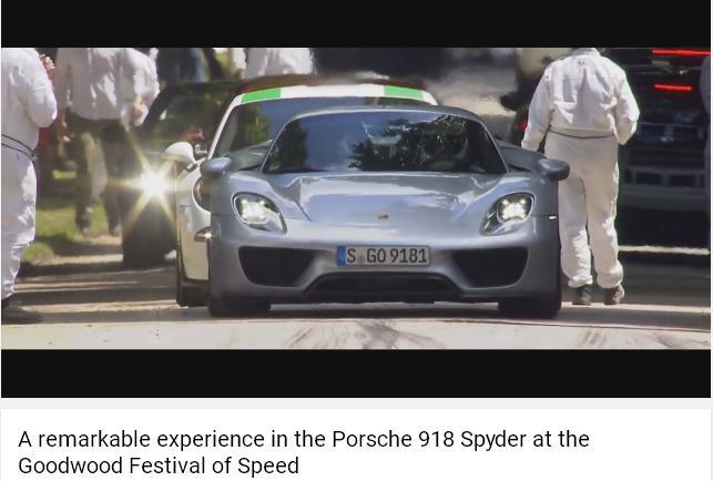 Porscheポルシェ918_Goodwood2016_001