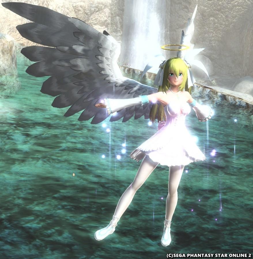 天使たんの水浴び