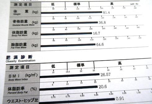 19)去年の体脂肪率