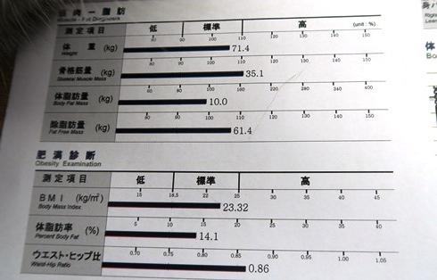 21)体重74キロの今は