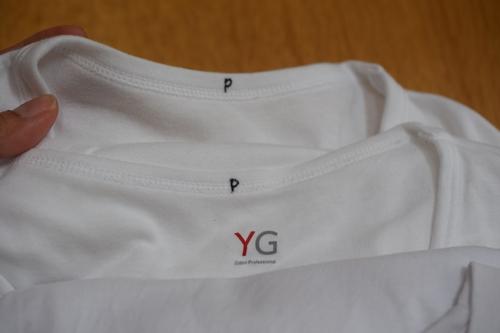 シャツに目印