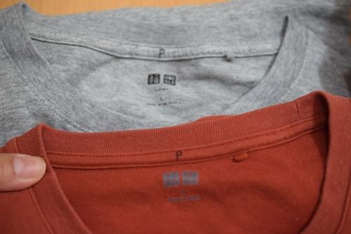 シャツに目印2