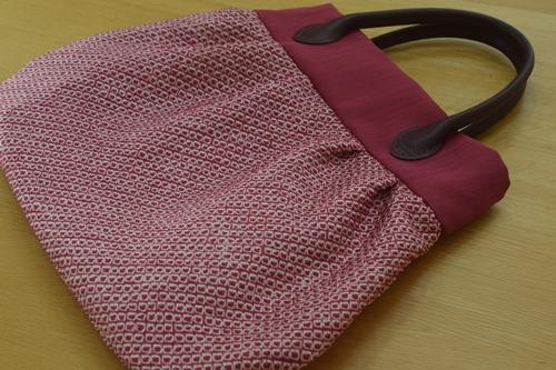 絞りの着物でバッグ作り2