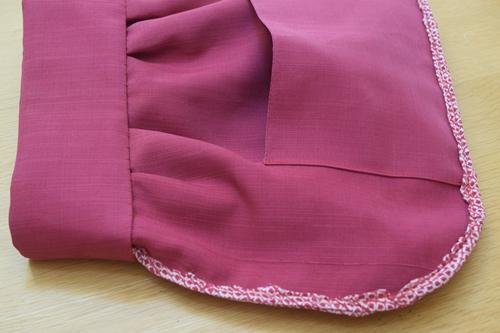裏でまつり縫い