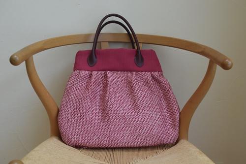 絞りの着物で作ったバッグ