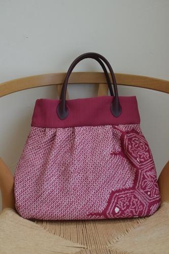 絞りの着物で作ったバッグ2