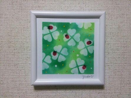 てんとう虫とクローバー20160517