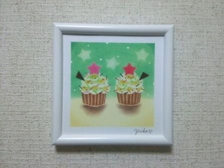 星のカップケーキ20160823