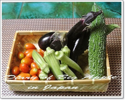 頂いた野菜たち