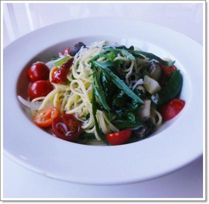シラスと地野菜のペペロッチーノ