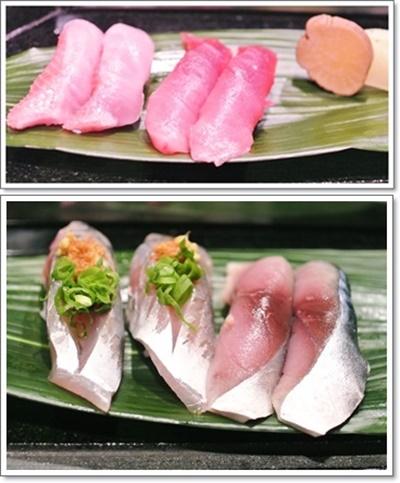 トロ&金目鯛&鯵&鯖