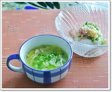 鶏スープ&冷ややっこ