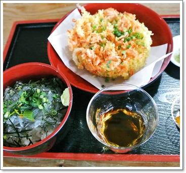 シラス丼&桜エビから揚げ