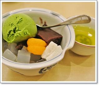 抹茶アイスクリーム密豆
