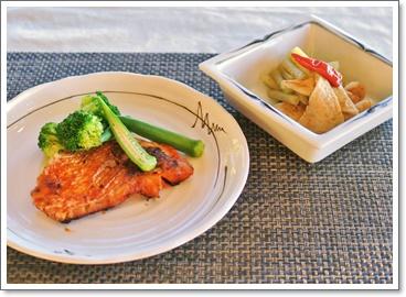 鯛の味噌漬け&蕗の煮物