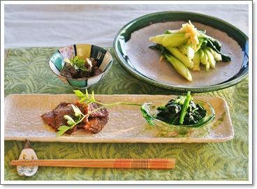 菜園の青梗菜