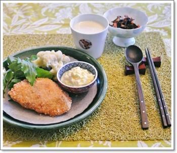 鮭フライで夕飯