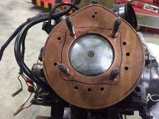 パッジョグ水冷ヘッド修理⑧