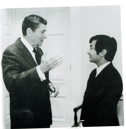 レーガン大統領とホワイトハウスで