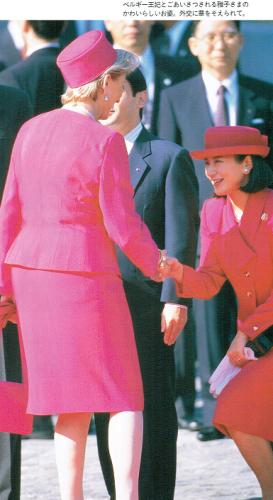パオラ王妃(当時のベルギー王妃)にご挨拶