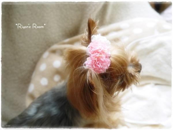 お花の髪飾り④
