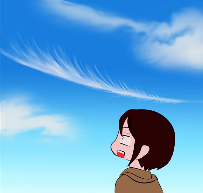 天使の羽根?!でかい!