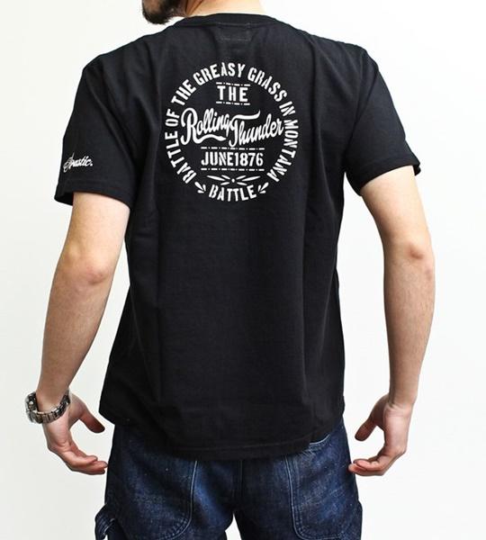 ヘビーウェイト半袖プリントTシャツ「ROLLING THUNDER」 アコースティック[Acoustic]