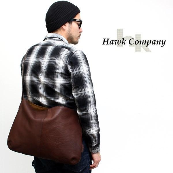 オールレザーシンプルショルダーバッグ ホークカンパニー[Hawk Company]