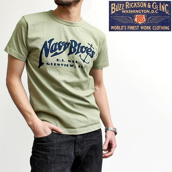 2016-06-25 アメリカ製半袖プリントTシャツ(NAVY BLUES) バズリクソンズ BUZZ RICKSONS