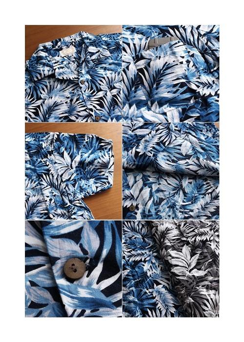 2016-08-05 ボタニカル柄半袖オープンカラーシャツ JOEY FACTORY ジョーイファクトリー 5