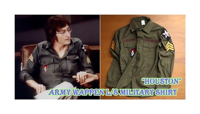 2016-08-22 ワッペンデザインバックサテン長袖ミリタリーシャツ US ARMY ヒューストン HOUSTON 6