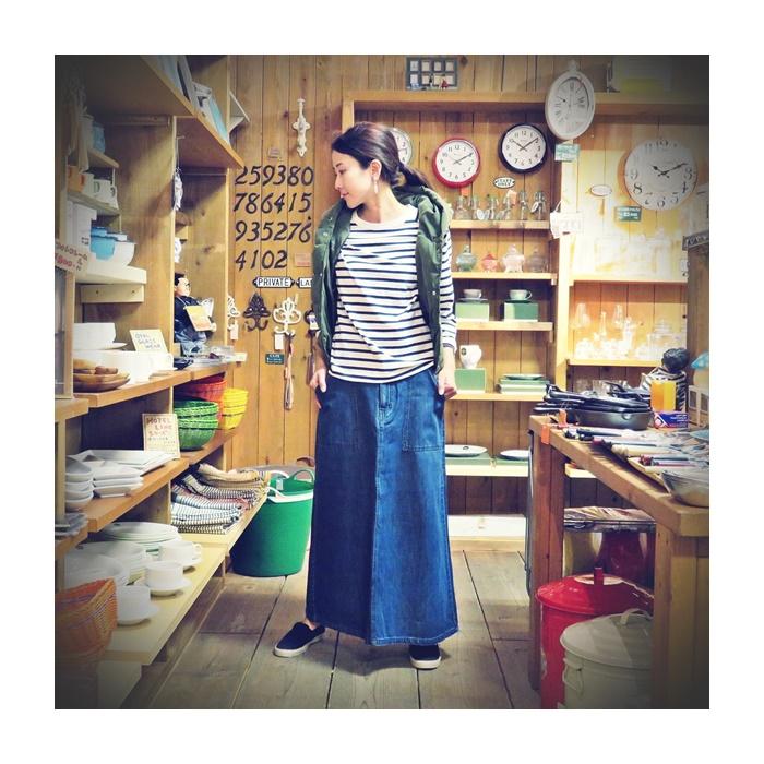 2016-08-22 ロングスカート grn 003 ビンテージ