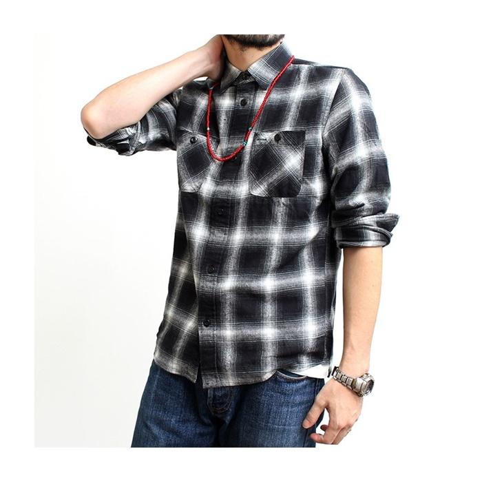2016-09-03 オンブレ―チェック ライトフランネル 長袖 ワークシャツ ヴィンテージイーエル VINTAGE E L 5
