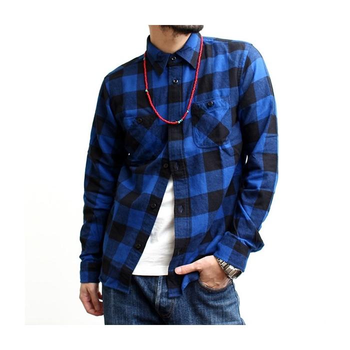 2016-09-03 ブロックチェック ライトフランネル 長袖 ワークシャツ ヴィンテージイーエル VINTAGE E L 6