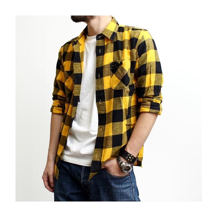 2016-09-03 ブロックチェック ライトフランネル 長袖 ワークシャツ ヴィンテージイーエル VINTAGE E L 7