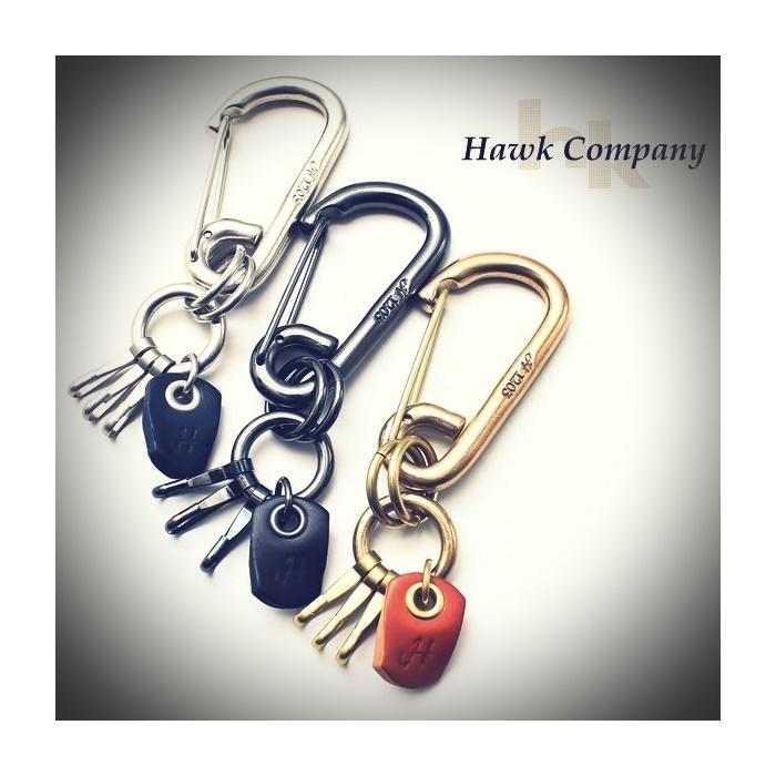 2016-10-03 アンティーク加工真鍮カラビナキーホルダー ホークカンパニー Hawk Company 1 ビンテージ
