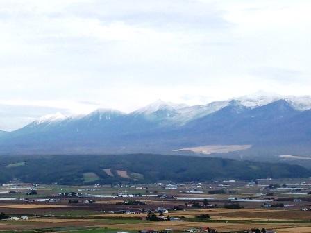 秋の十勝岳連峰