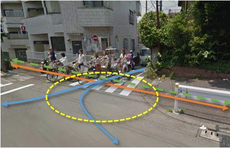 写真R:環状八号線から区道方向
