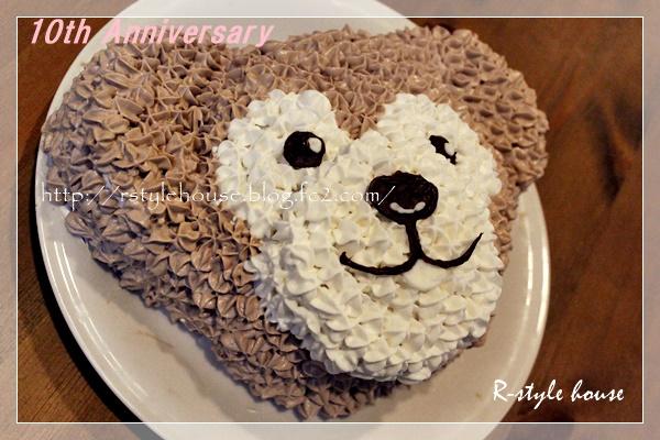 手作りダッフィーケーキ